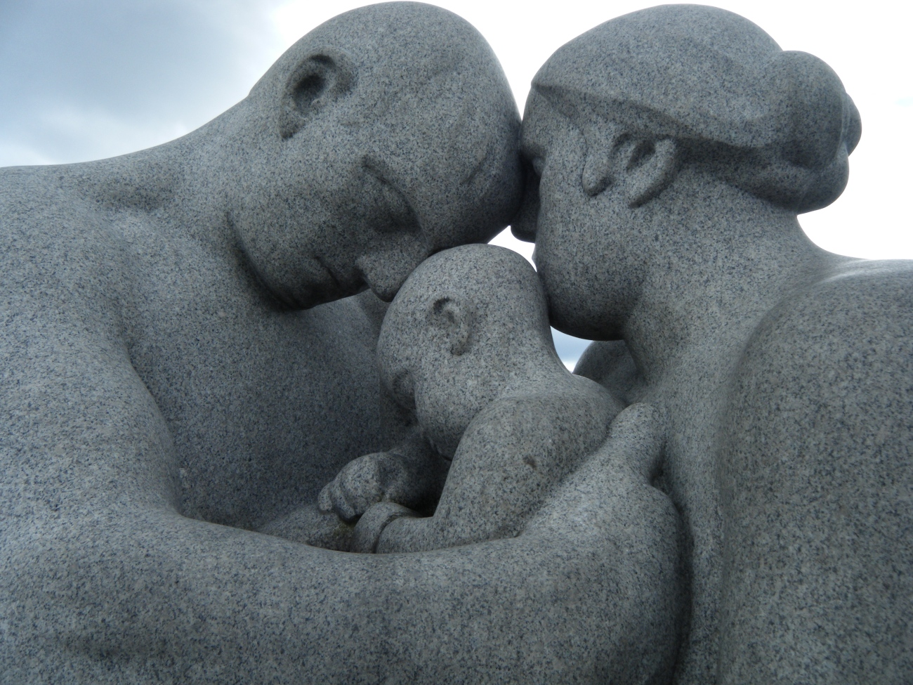 A statue of family in Oslo, Norway