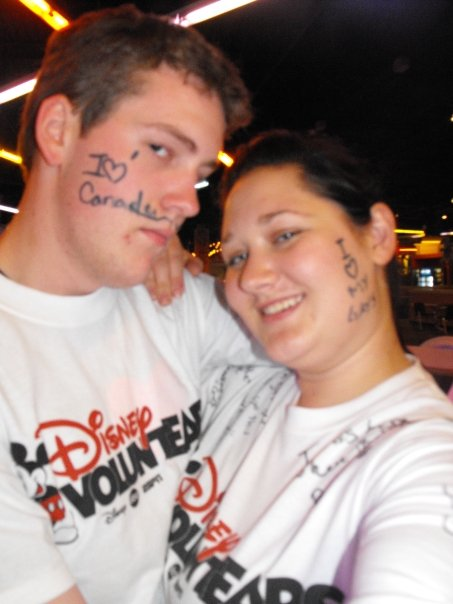 Rene & I at the Disney Voluntear Bowl-a-thon