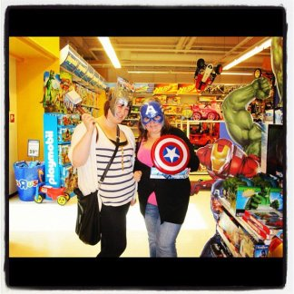 Dressing up as Thor & Captain America in Lilehammer