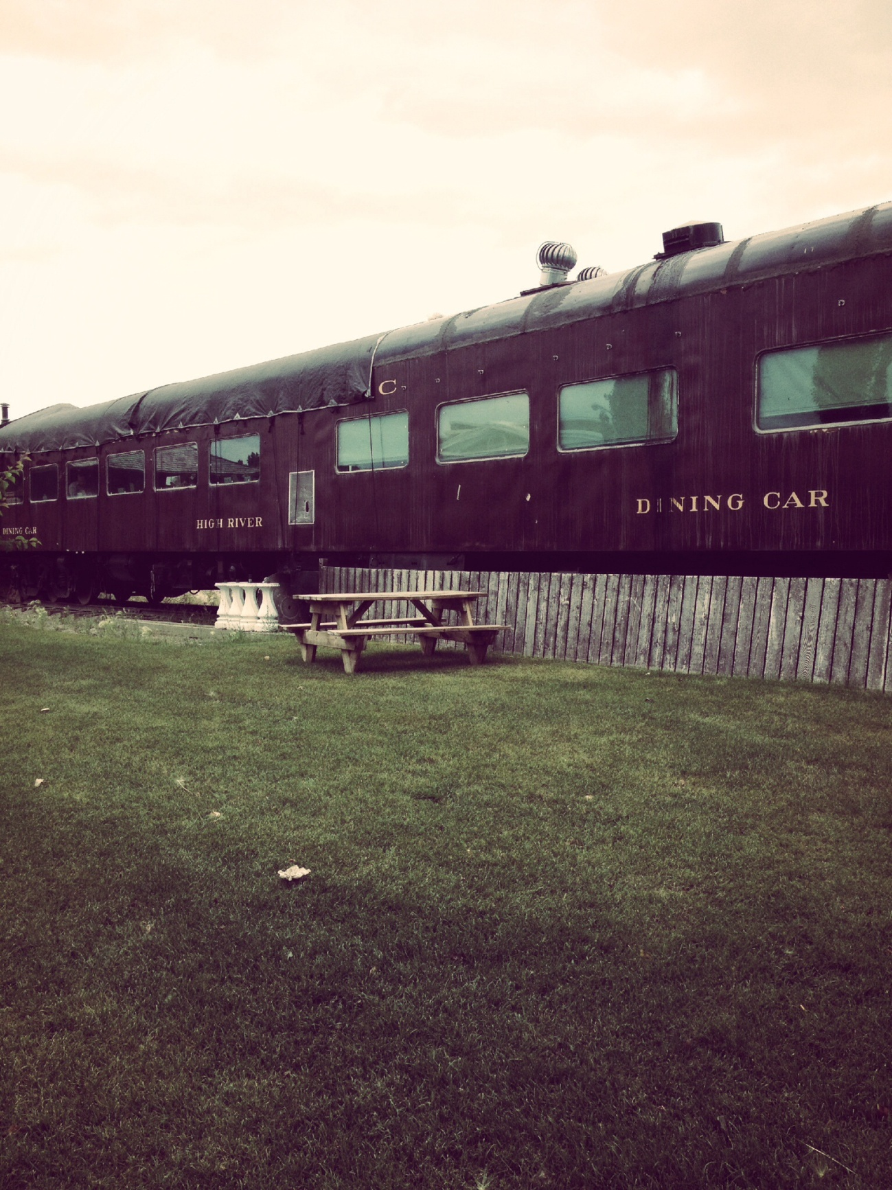 The dining car in High River survived the flood