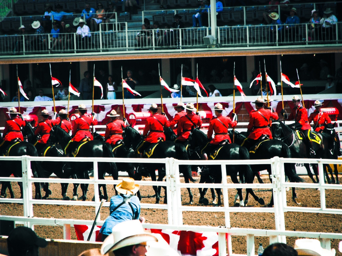Mounties during the 2014 Stampede Rodeo