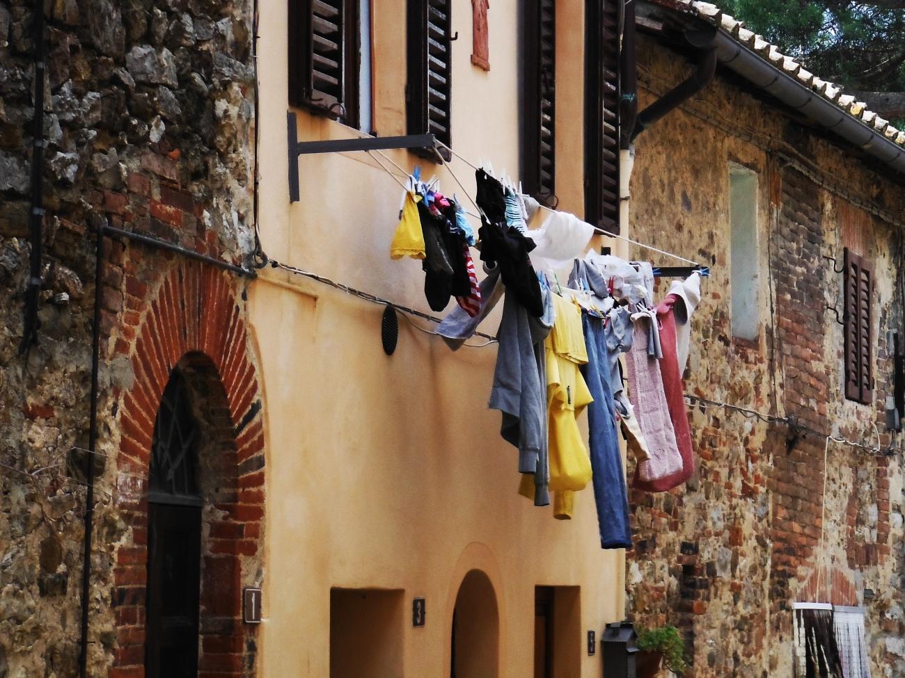 Streets of San Gusme Italy