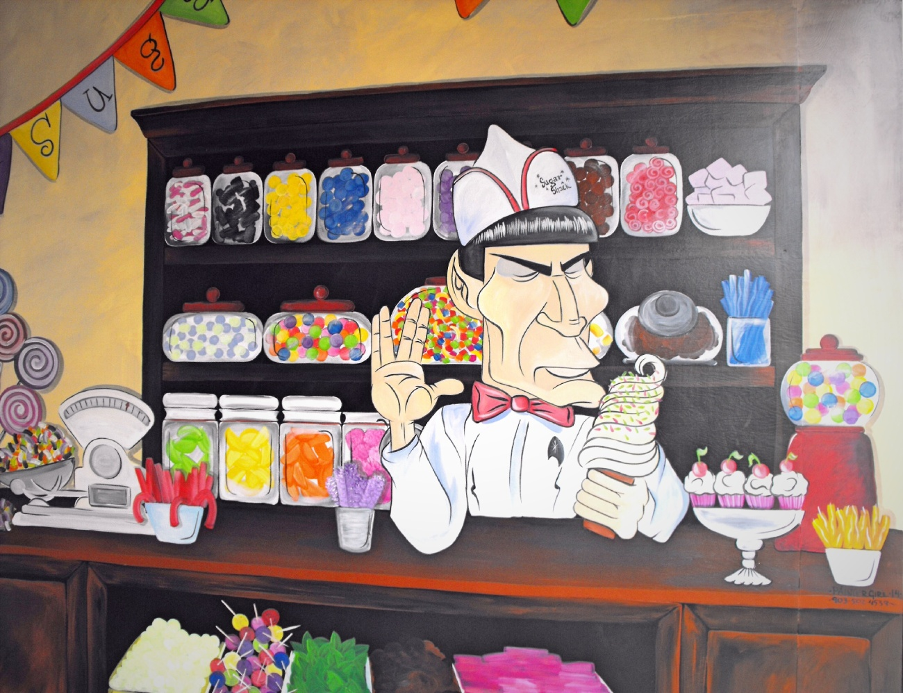 Spock's working in Vulcan as a candy clerk