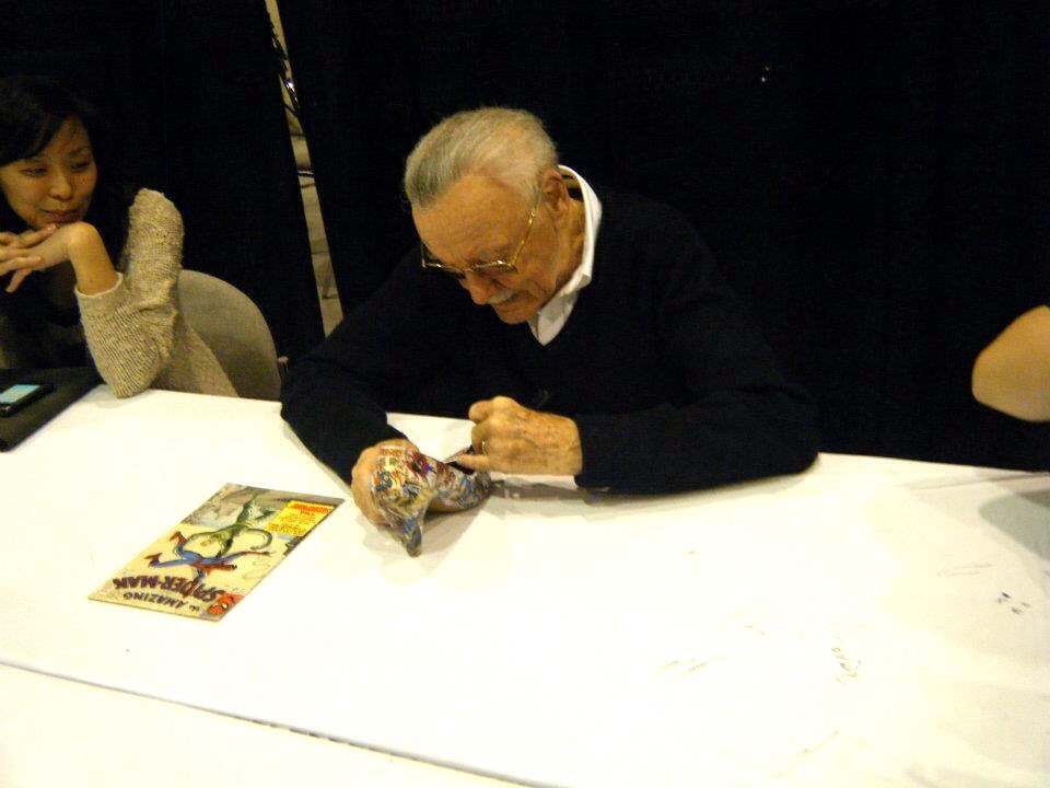 Stan Lee signing my Superhero heels