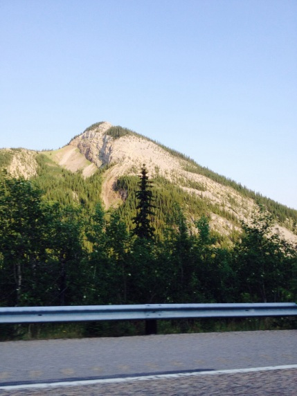 View on the way to camping in Kananaskis country