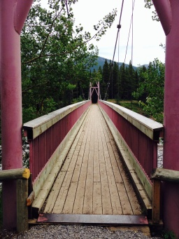 Love the colour of the Bridge over the Elbow River