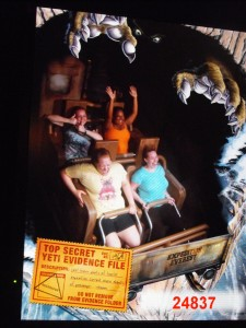 Not my proudest moment, but this is how I handle roller coasters (I'm the one in the yellow)