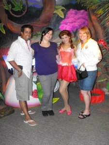 Noah, Heather and I in Pixie Hollow