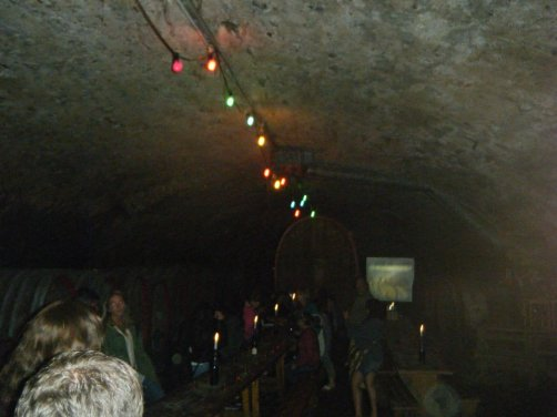 Underground Winery Tasting